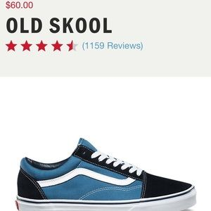 Vans Old Skool Low Top Blue and Black